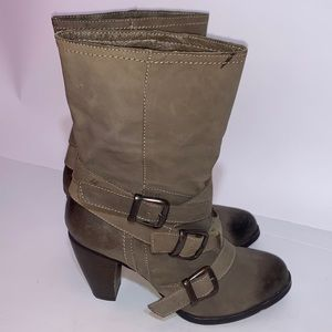 Steve Madden freeway leather mid calf boots 6.5